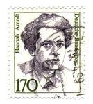 Anna Arendt, german-american political theorist - Alemanha, -, circa, 1989