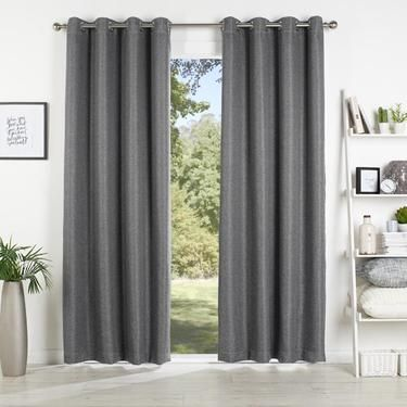 Curtains Ideas curtains in australia : KOO Stratam Extendable Eyelet Curtains Charcoal | Spotlight ...