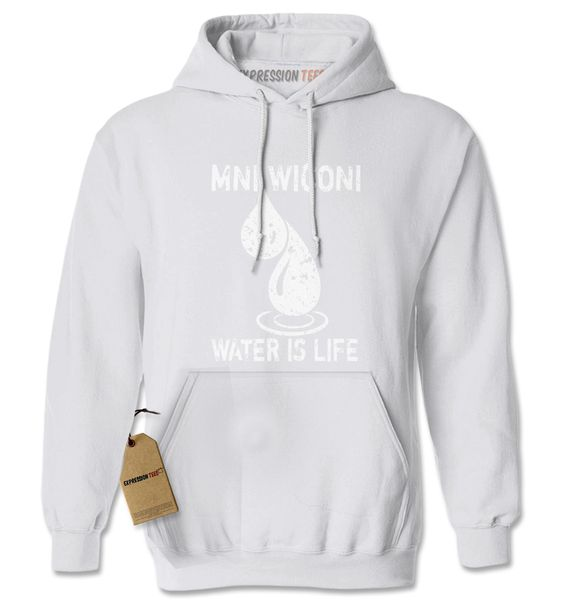 Mni Wiconi Water Is Life Adult Hoodie Sweatshirt