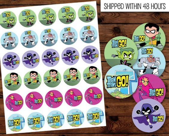 Teen Titan Go Stickers Teen Titans Birhday Teen by DHDigitalDesign