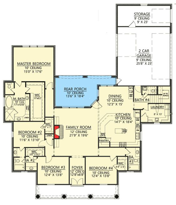 Plan 56385SM 4 Bed Acadian House Plan with Bonus Room House