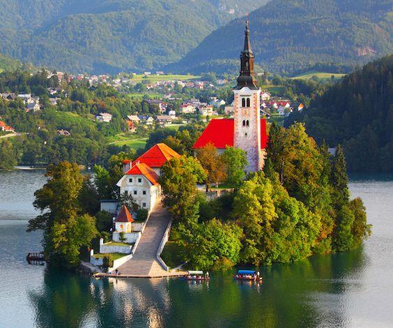Assumption of Mary (Cerkev Marijinega vnebovzetja) Lake Bled Slovenia
