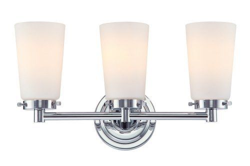 Alico Industries BV7T3-10-15 Madison Collection 3-Light Vanity Fixture, Chrome Finish with White Opal Glass by Alico. $140.00. Alico Industries BV7T3-10-15 Madison Collection 3-Light Vanity Fixture was designed with only the best in mind thinking of Madison Avenue in New York City, with the clean Chrome finish and White Opal glass. Place in a bathroom or in a dressing room for some simple elegance. The BV7T3-10-15 is 17-Inch wide by 9.5-Inch high by 6-Inch ext...