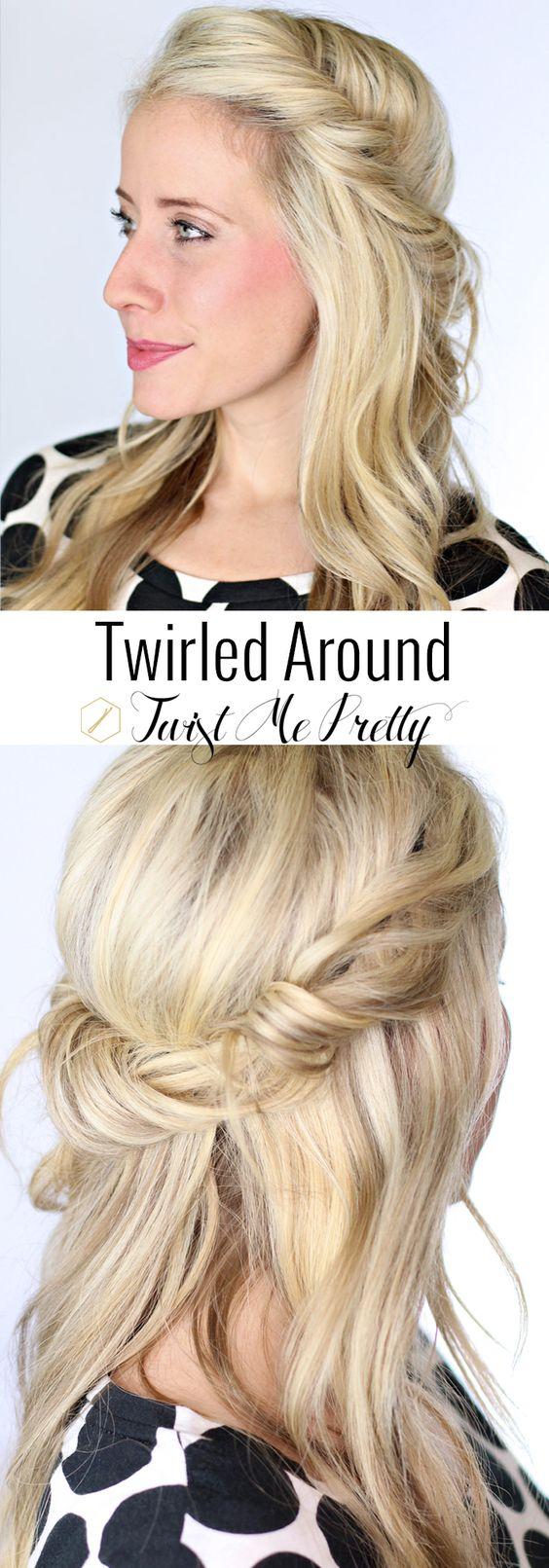 Cheveux Rouls Autour D39un Bandeau DIY Hair Pinterest