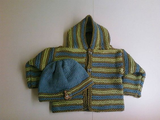 Free pattern Ravelry: Comfy Hooded Jacket pattern by Lion Brand Yarn