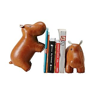 Hippo Menagerie Bookends for Kids Rooms | Serena & Lily