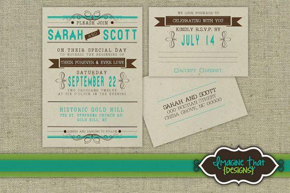 Southern Belle 2 PRINTABLE Wedding Invitation by ImagineThatbySam, $12.42