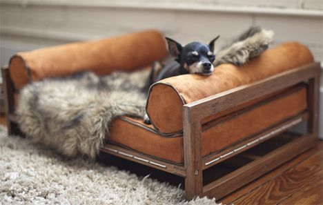 ♥ Faux Leather Dog Bed ♥ Faux leather pet bed ideas from your friends at http://www.SpiffyPetProducts.com: