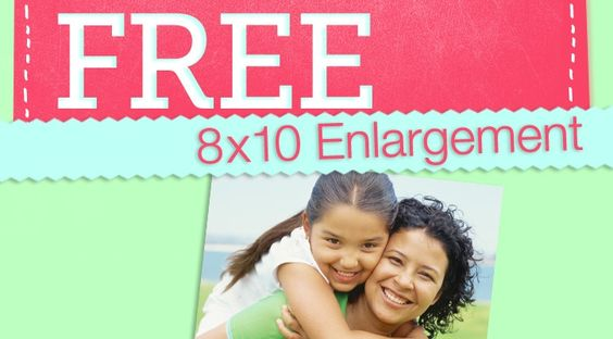 Grab a FREE 8×10 enlargement from Walgreens! Just use the promo code FREE4ME at checkout. What a nice Mother's Day treat! Hurry Offer ends Saturday May 12th!