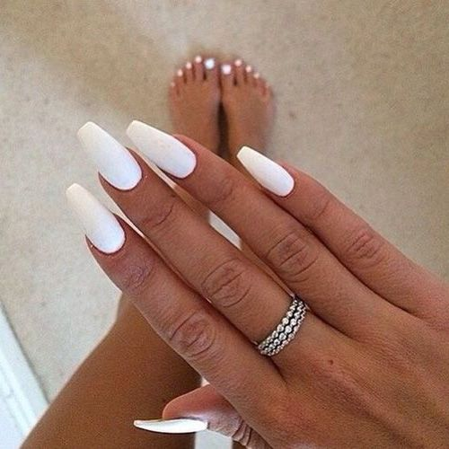 Nayelly Nails On In 2020 White Acrylic Nails Swag Nails Fire Nails