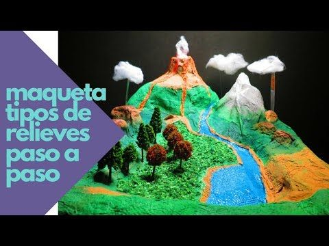 Cómo Hacer Maqueta Del Relieve Y Ecosistemas Proyecto Escolar En Porcelana Fría Maquetas De Ecosistemas Maquetas De Paisajes Como Hacer Maquetas Escolares