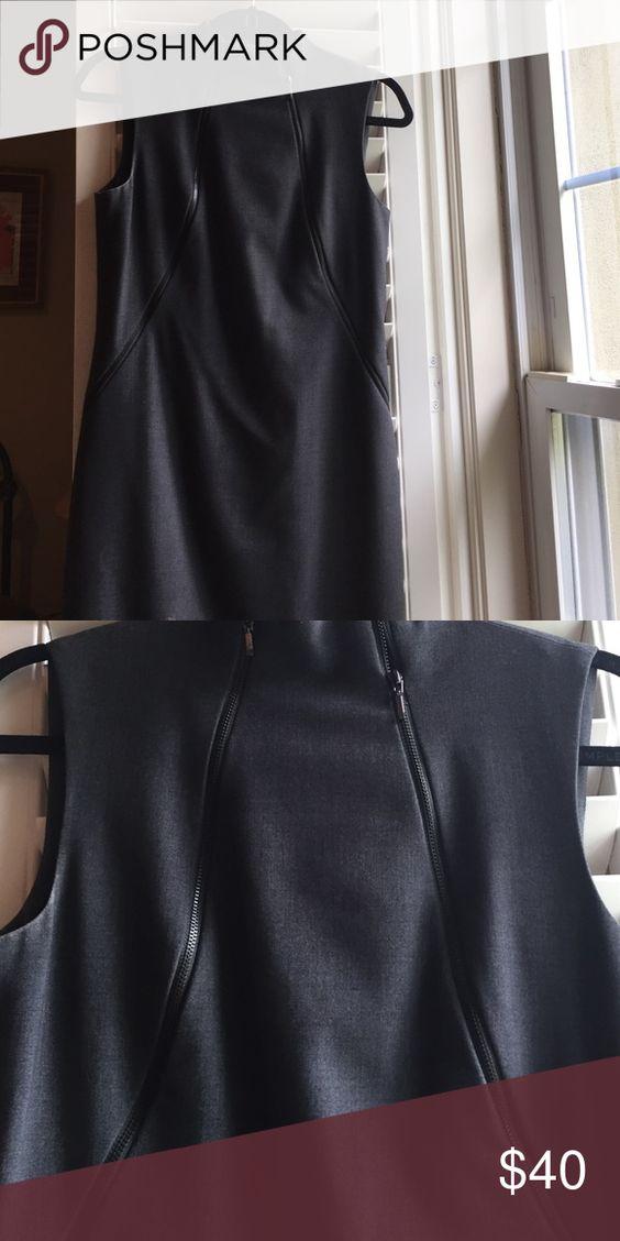 Calvin Klein zipper dress Sexy, Double zipper dress Calvin Klein Dresses Midi