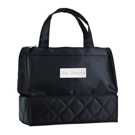 Quilted Chic Cosmetic Travel Toiletry Bag Size: 10