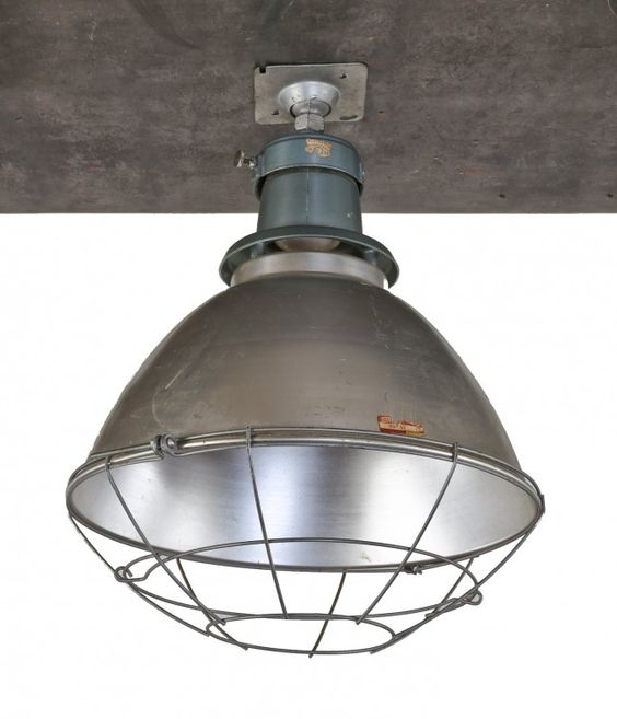 Light Fixtures Chicago: Single Oversized C. 1950's American Industrial Chicago