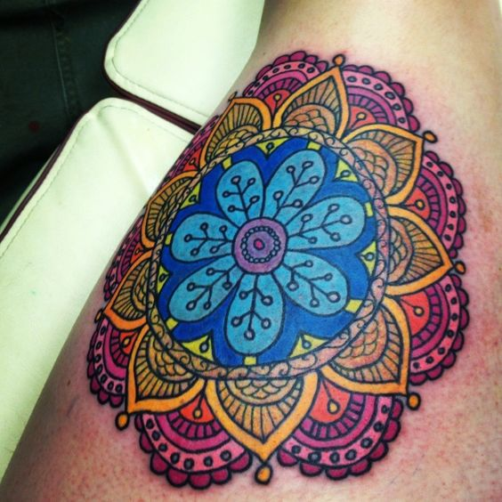 corazon mandala tattoo