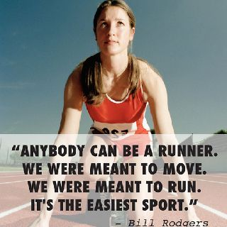 except if it WERE easy, everyone would be doing it but yes, anyone with the will to try, can be a runner