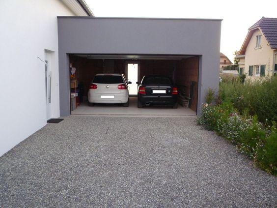 allée de graviers, allée carrossable, pour aller au garage