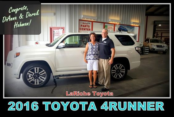 Congrats DiAnna & Derek Hohman! Have fun where ever you go in  your new 2016 Toyota 4Runner