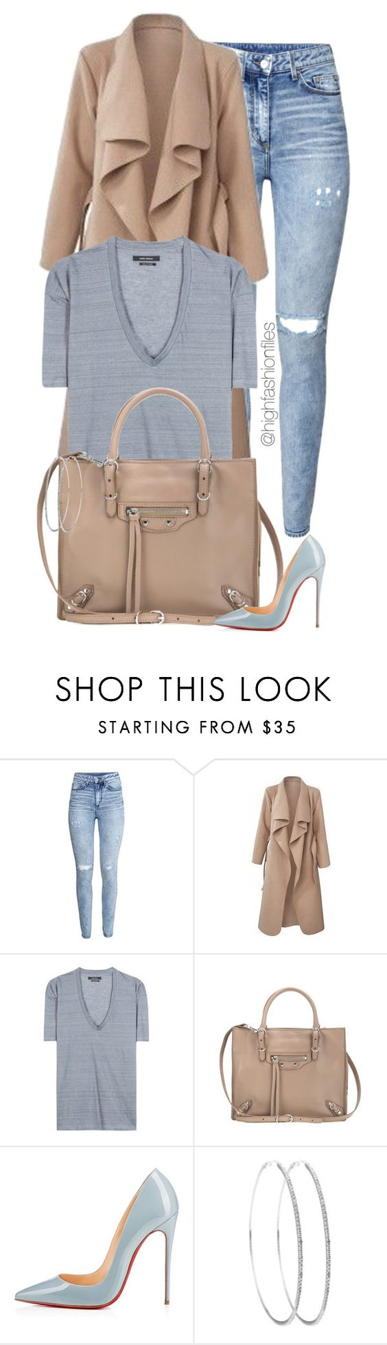 """Everyday Style"" by highfashionfiles ❤ liked on Polyvore featuring H&M, Isabel Marant, Balenciaga and Christian Louboutin:"