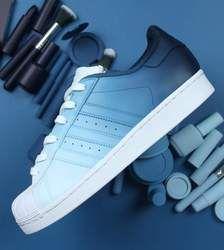 CUSTOM SNEAKERS   Blue adidas shoes
