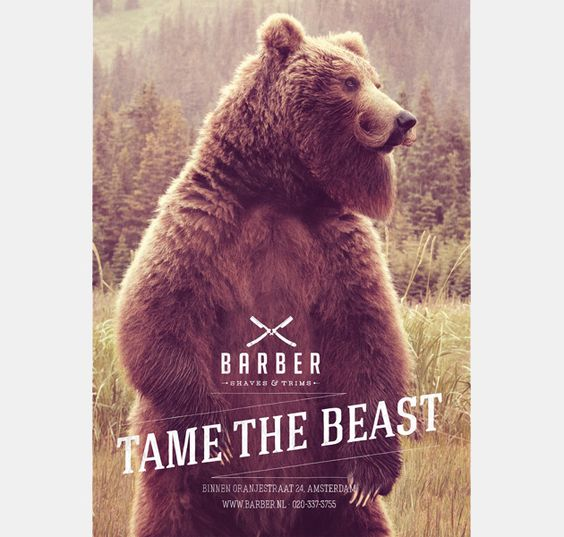 'Tame The Beast' ' BARBER SHOP CAMPAIGN