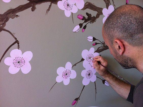 Decorazione, sakura cherry blossom fase di lavorazione