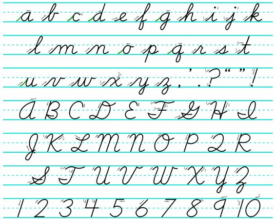 Cursive Writing | Cursive handwriting practice, 7 year olds and ...