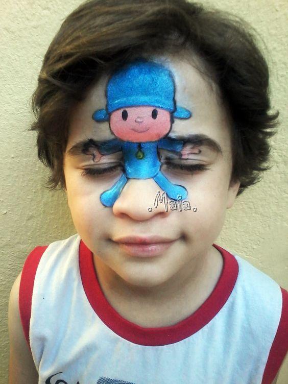 Pintura Facial / Maquiagem Artística Pocoyo - Pocoyo Face Painting: