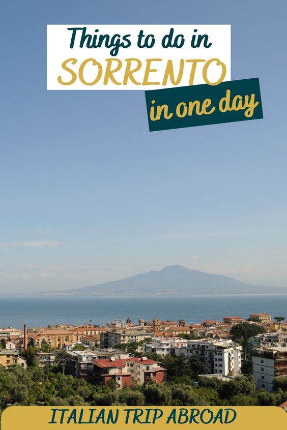Things to do in Sorrento in one day