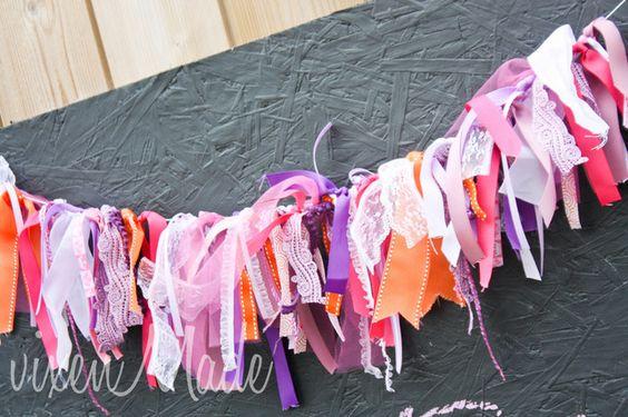 Such a pretty ribbon banner! #ribbon #banner #fancynancy