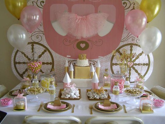 Gorgeous princess themed birthday party! See more party ideas at CatchMyParty.com!