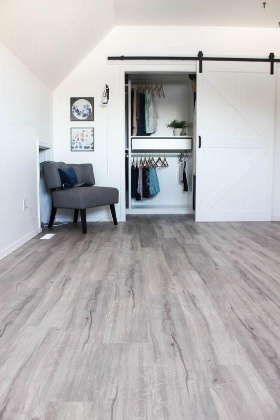Grey Vinyl Plank Flooring, Vinyl Plank Flooring Basement Installation