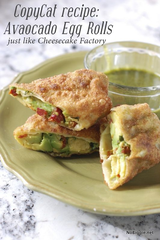 Avocado egg rolls   Cheesecake Factory copycat recipe #BabyCenterBlog