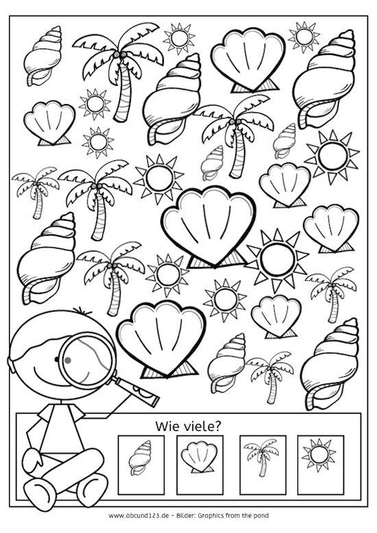 Sommerkalender, Wahrnehmung, Aufmerksamkeit, Feinmotorik, Legasthenie, Dyskalkulie, Eltern ...