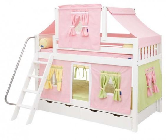 Magnificent Yellow Tent Bunk Bed