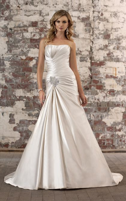 Style d1252 this fit and flare wedding dress in dolce for Fit and flare ruched wedding dress