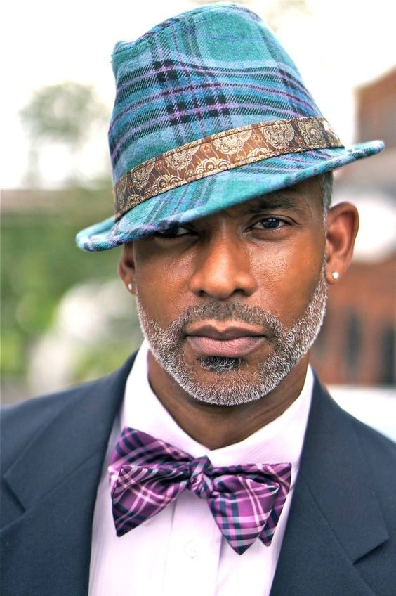 stylish behatted man