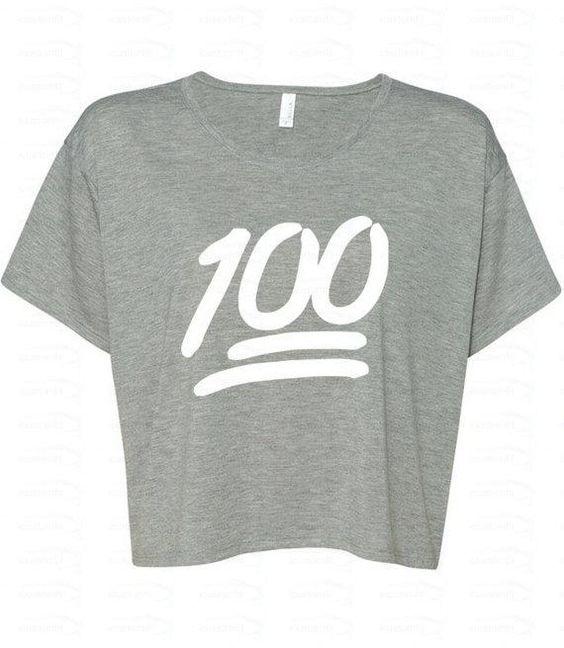 Emoji Clothes, Sweatpants, Tops, Bags, and Jewelry - 100 Emoji White Logo Boxy Crewneck, $12.98; at Etsy