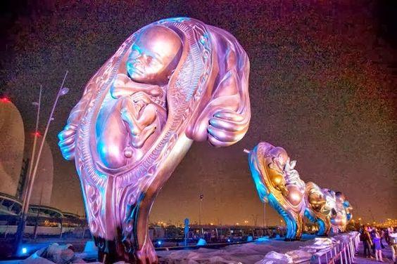 Actualidad y Análisis: Mostrar la vida como medio para defenderla: 14 espectaculares esculturas en una ciudad cosmopolita
