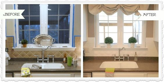 How to Paint a Ceramic Tile Kitchen Backsplash (And How It's Held Up)