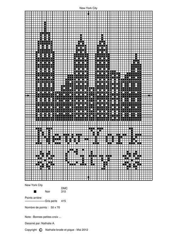 New-york city Grille de Nathalie brode et pique.