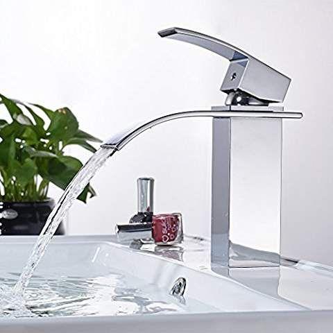 Auralum Wasserfall Waschtischarmatur Einhandmischer Waschbecken