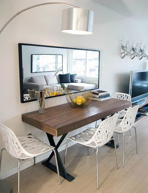 Mirror In Dining Room Feng Shui Lovely 11 Feng Shui Tips For Using Mirrors 100 1000 Tiny Dining Rooms Small Dining Room Table Apartment Dining Room