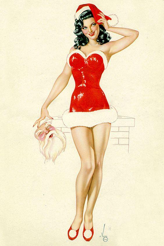 Vargas-christmas-pin-up-2.jpg (800×1200) | Christmas Pin Up Art ...