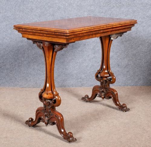 Victorian Walnut Card Table Antiques Atlas Com Antique Furniture For Sale Antique Table Victorian Furniture