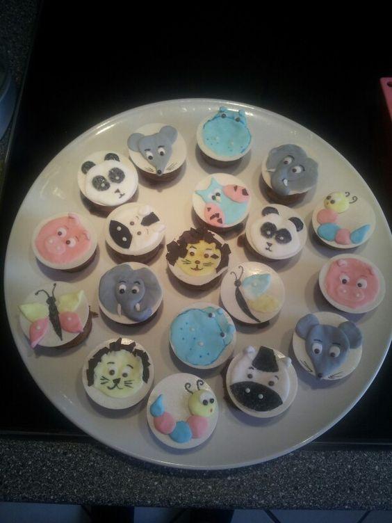Mini- Bananen- Muffins mit Tierdekor