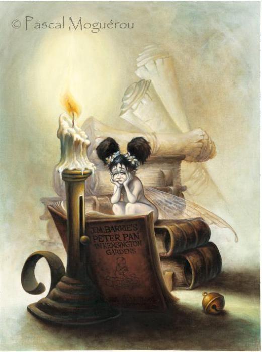 Pascal Moguerou - fairy reading Peter Pan in Kensington Gardens