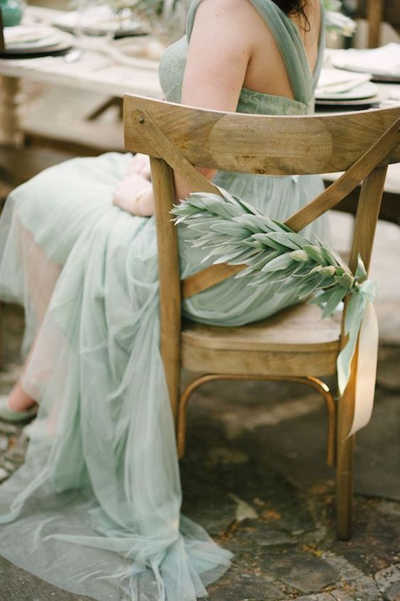 Gorgeous sea green bridesmaid dress perfect for beach wedding