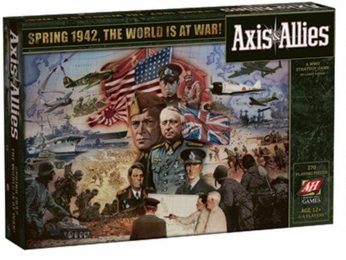 $28.00 Axis Allies 1942. This updated edition of the original classic game Axis Allies features new sculpted playing pieces and rulebook.2-5 playersAges 12