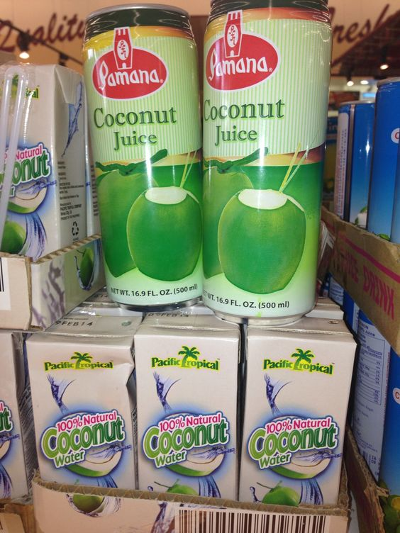 coconut juice... my fave when i was a kid!! well, i love calamansi & mango juices too!